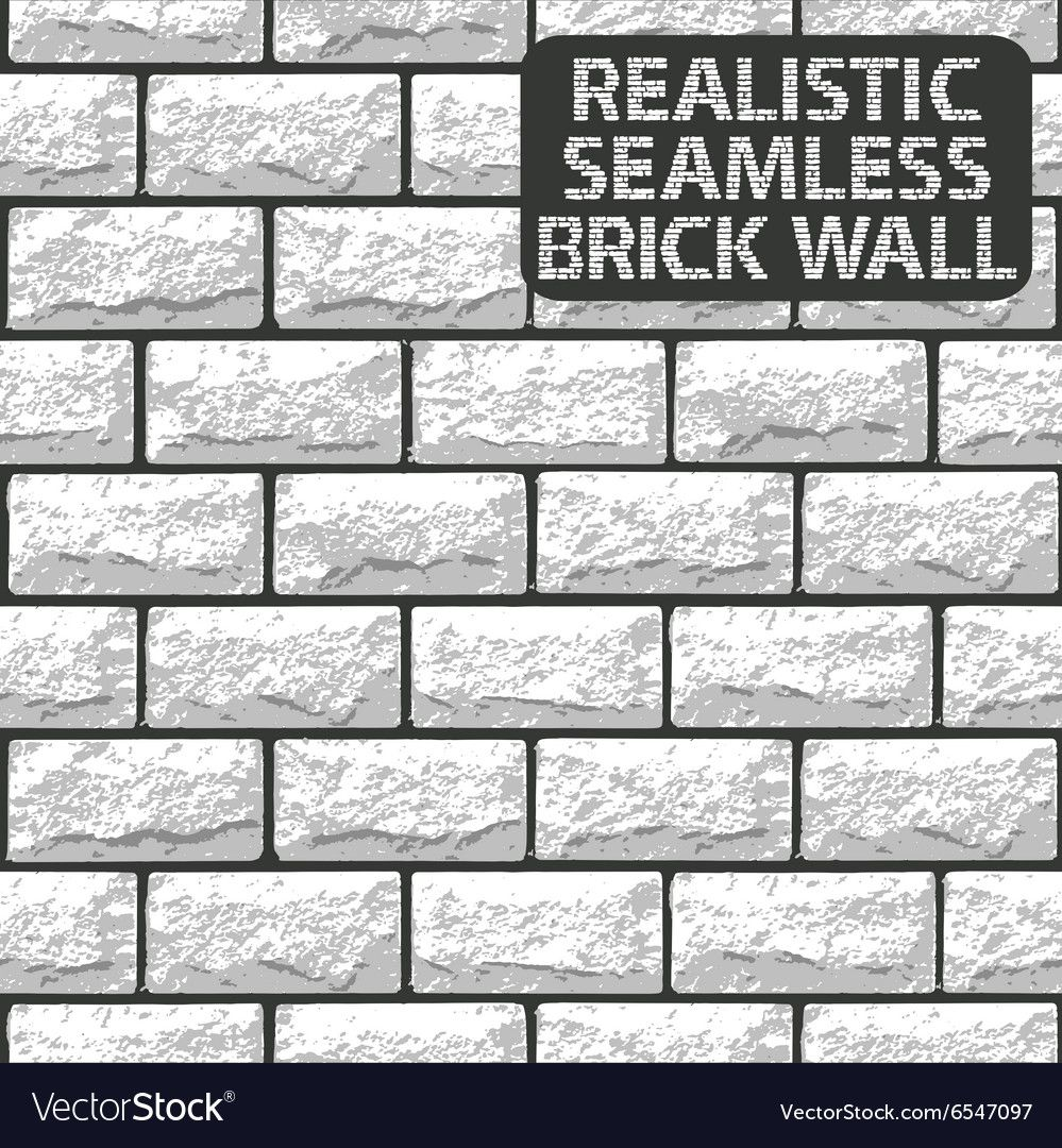 Realistic Seamless Texture Of White Brick Wall Vector Image Ad Texture White Realistic In 2020 Flying Bird Silhouette Black And White Abstract Vector Images