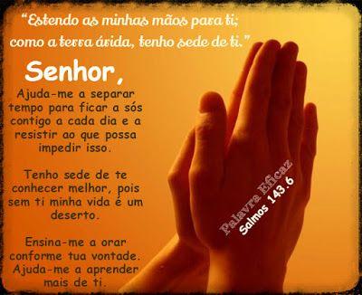 Sede De Conhecer A Deus Salmos 143 6 Salmos
