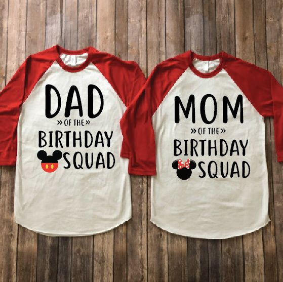 Mom And Dad Of Birthday Squad Mickey Minnie Mouse Version