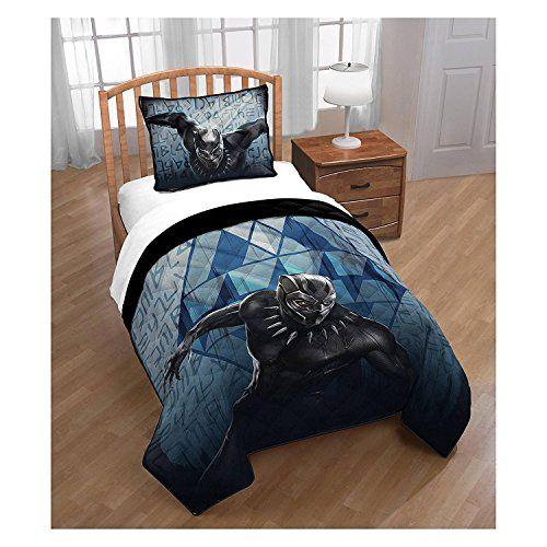 Black Panther 5 Pc Marvel Quilt Sheet Set Twin 5pc