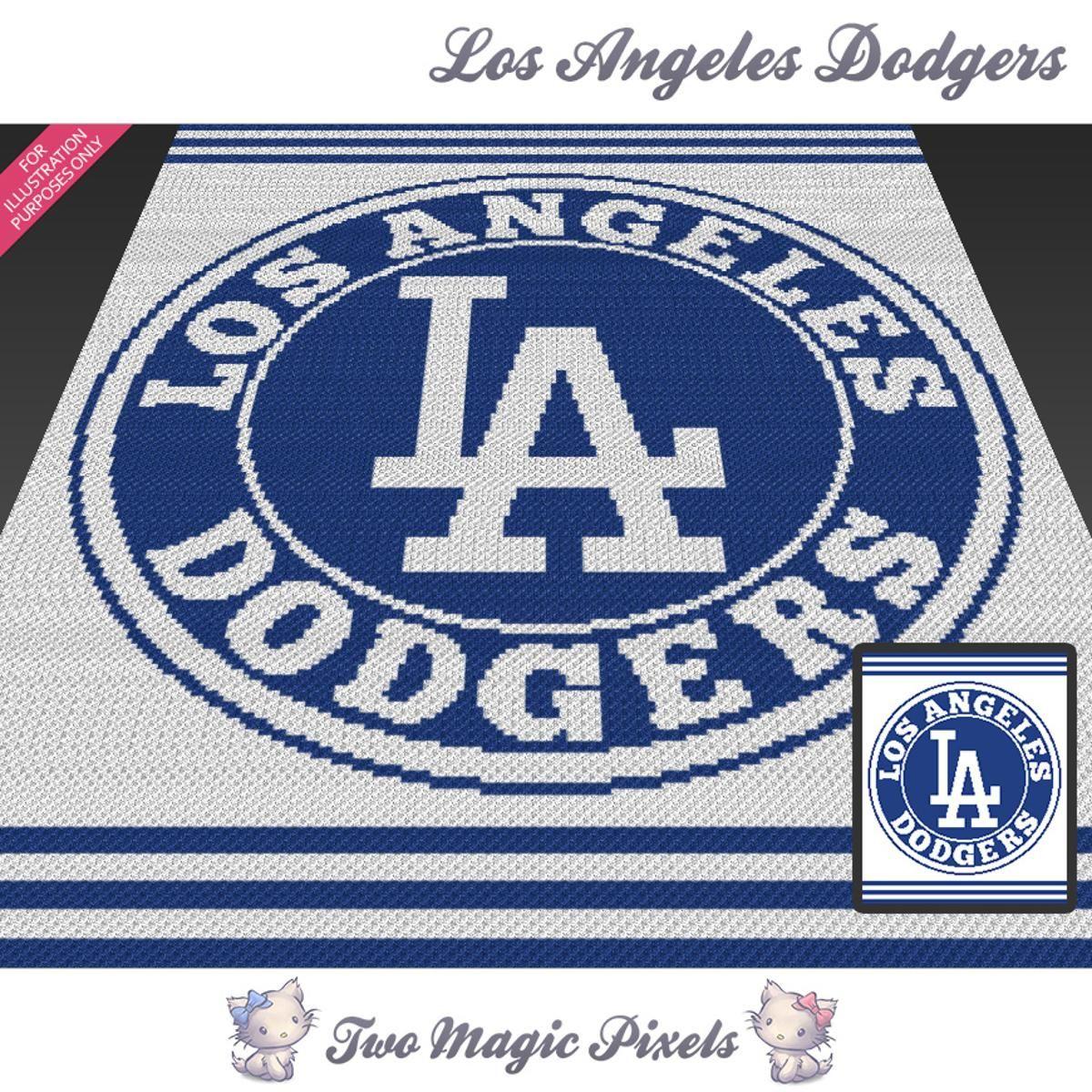 Los Angeles Dodgers Crochet Graph