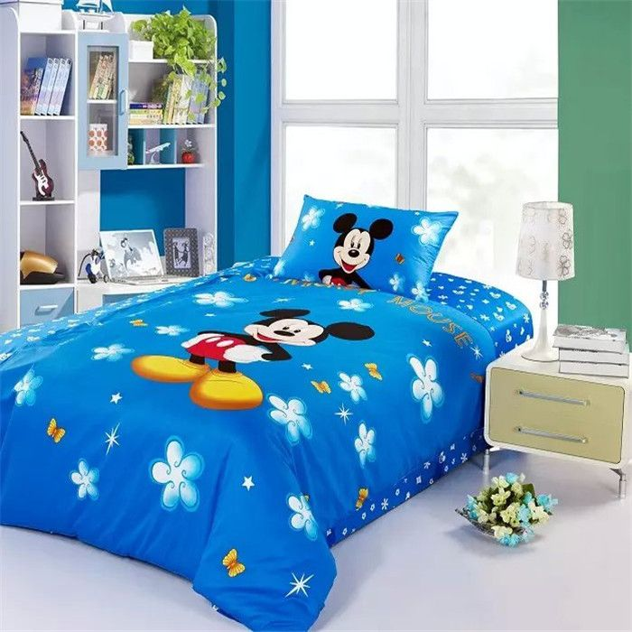 Hot Seller Blue Mickey Mouse Bedding Canada Mickey Mouse Bed Set