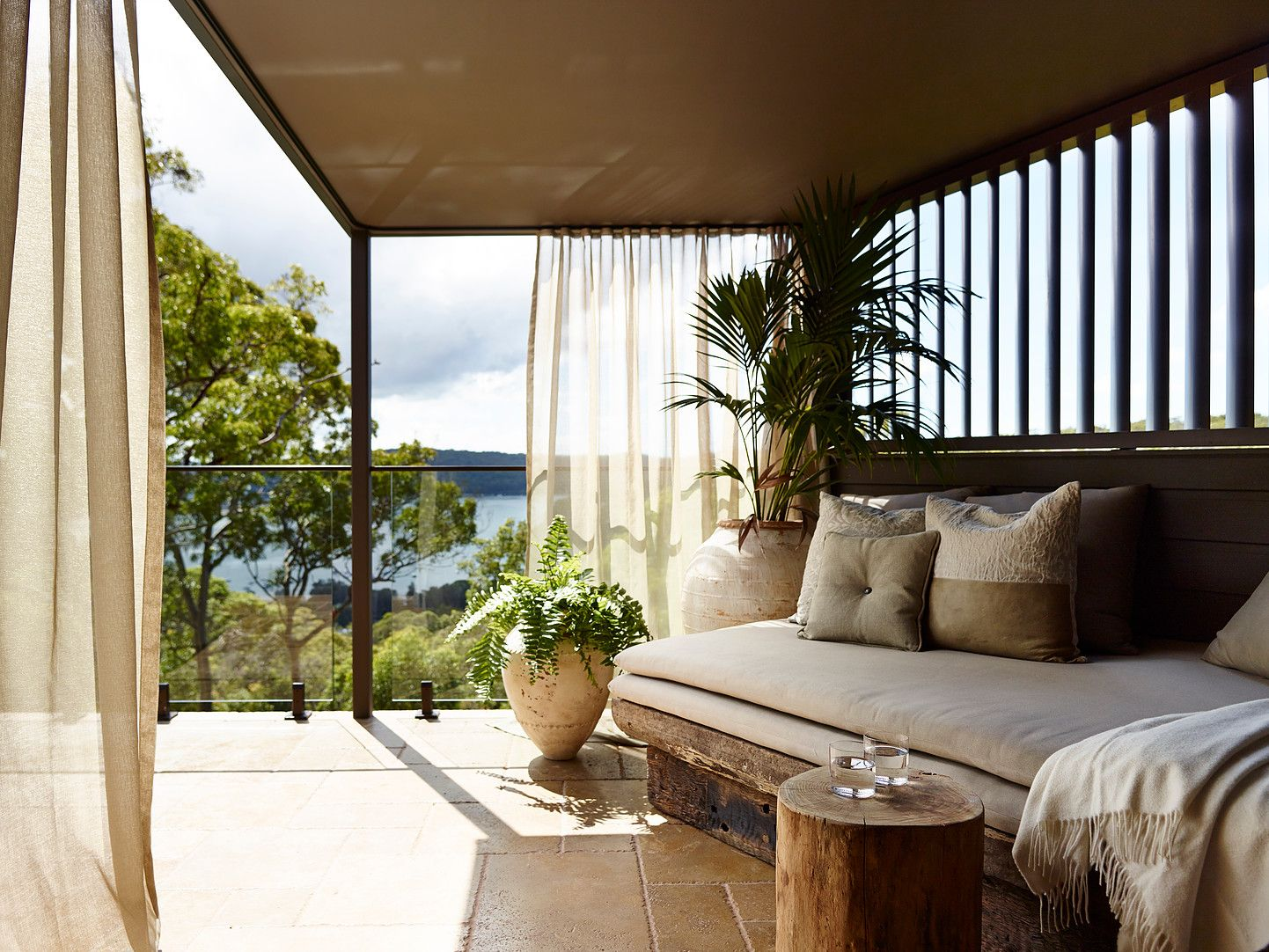 The design for Pretty Beach House is inspired by local Indigenous heritage and the rich colours and textures of the Australian landscape.