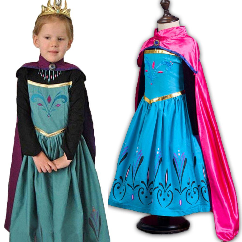 Fantasy Girls Anna Elsa Dress Snow Princess Sofia Dress for Girls ...