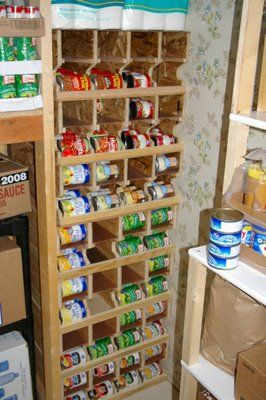 food storage can rotation shelves pantry food storage can rh pinterest com