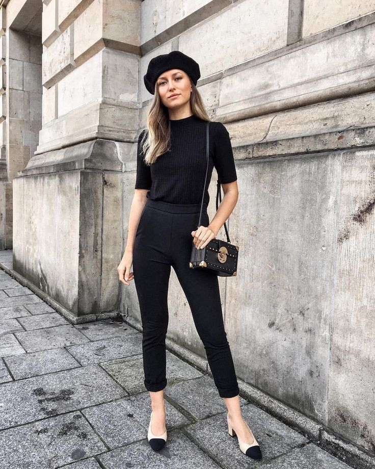 Black Girl Fashion 2019: All Black French Girl Outfit