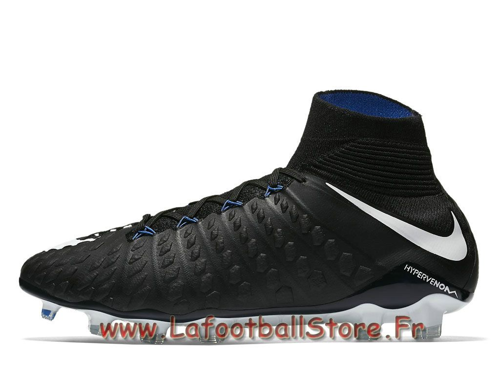 cheap for discount 6feae 78677 Nike Hypervenom Phantom 3 DF FG Noires 860643 002 Chaussure de football à crampons  pour terrain sec