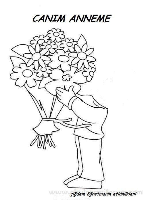 Hediyemiz Bir Buket çiçek Belirli Gün Pinterest Anne Okul Ve