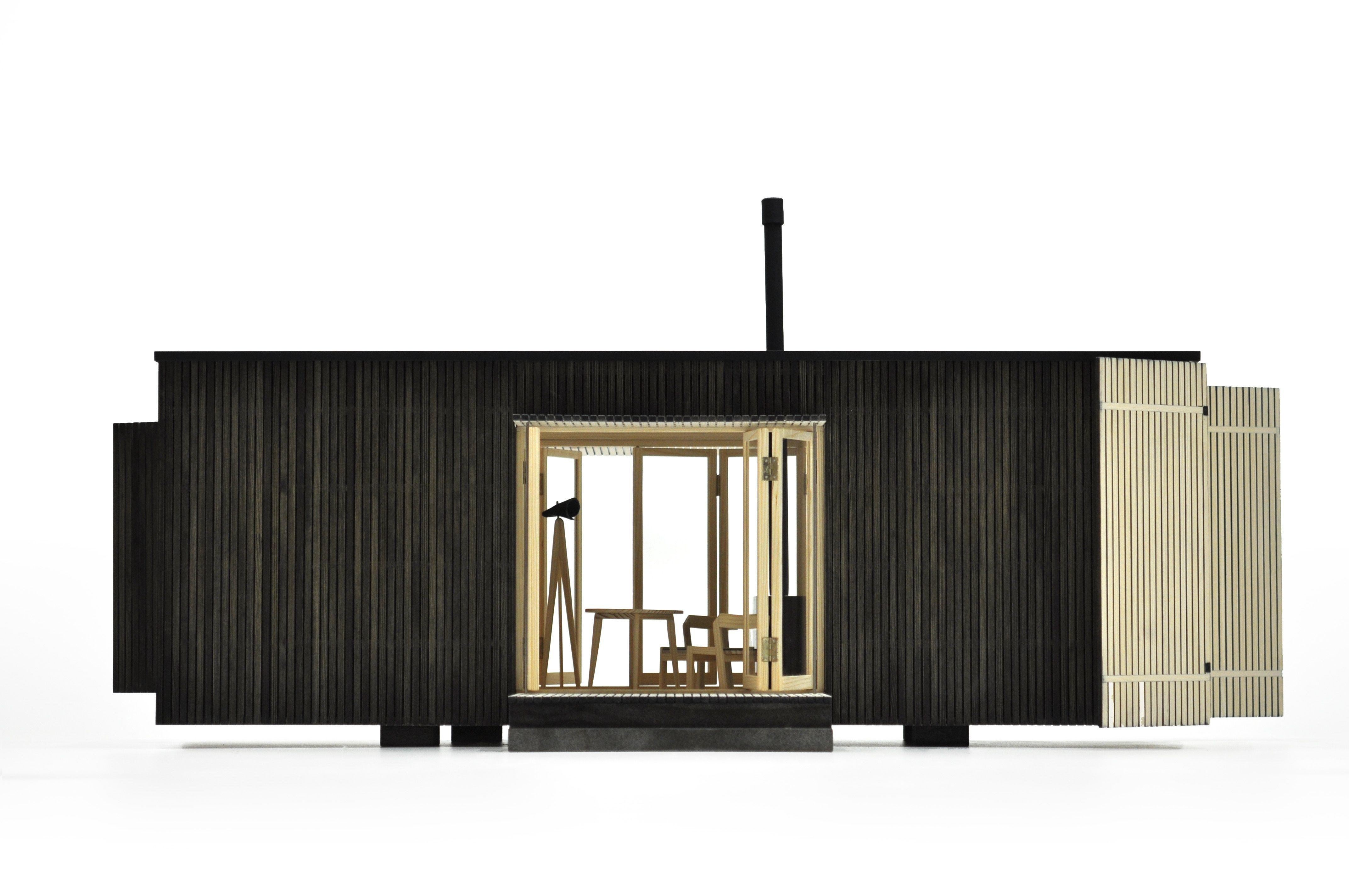 architecture makette, architecture model, cabin, architecture, ark shelter, shelter, visualization, mobile architecture, cottage, container