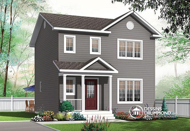 W3719 plan de maison champ tre avec 3 chambres grand for Plan maison 6 chambres