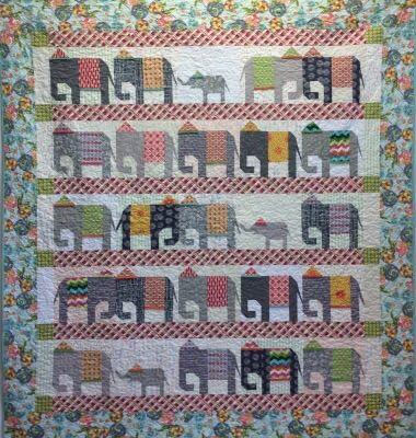Elephant Walk Pattern | Laura Heine | Quilt Patterns | Fiberworks ... : elephant quilt patterns - Adamdwight.com