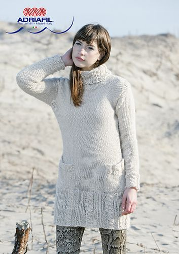 Ravelry: Adriafil Ingrid sweater pattern by Adriafil Yarn