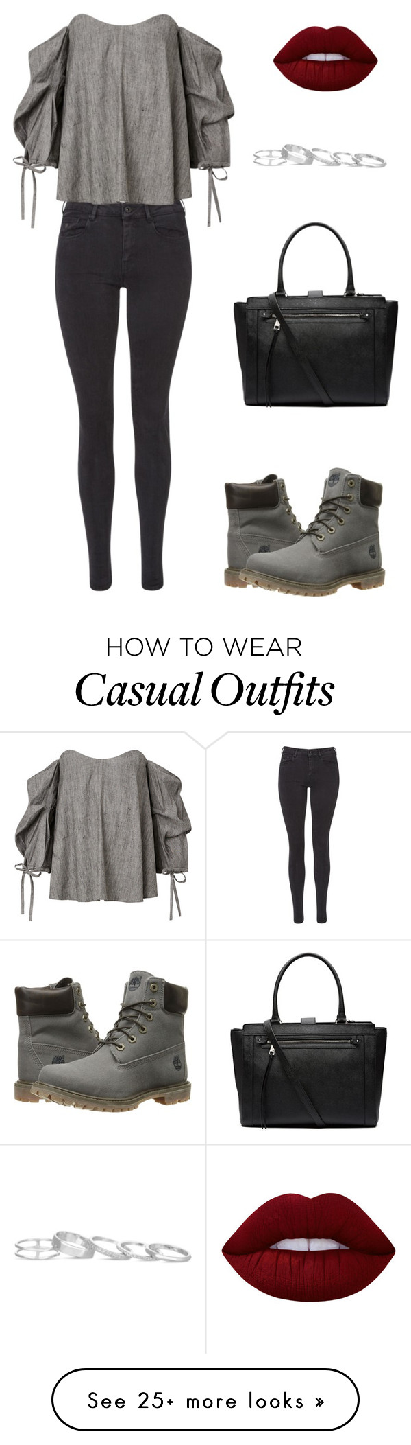 """""""Casual 💋"""" by oliviacarolineantonia on Polyvore featuring Maison Scotch, Timberland, Witchery, Kendra Scott and Lime Crime"""