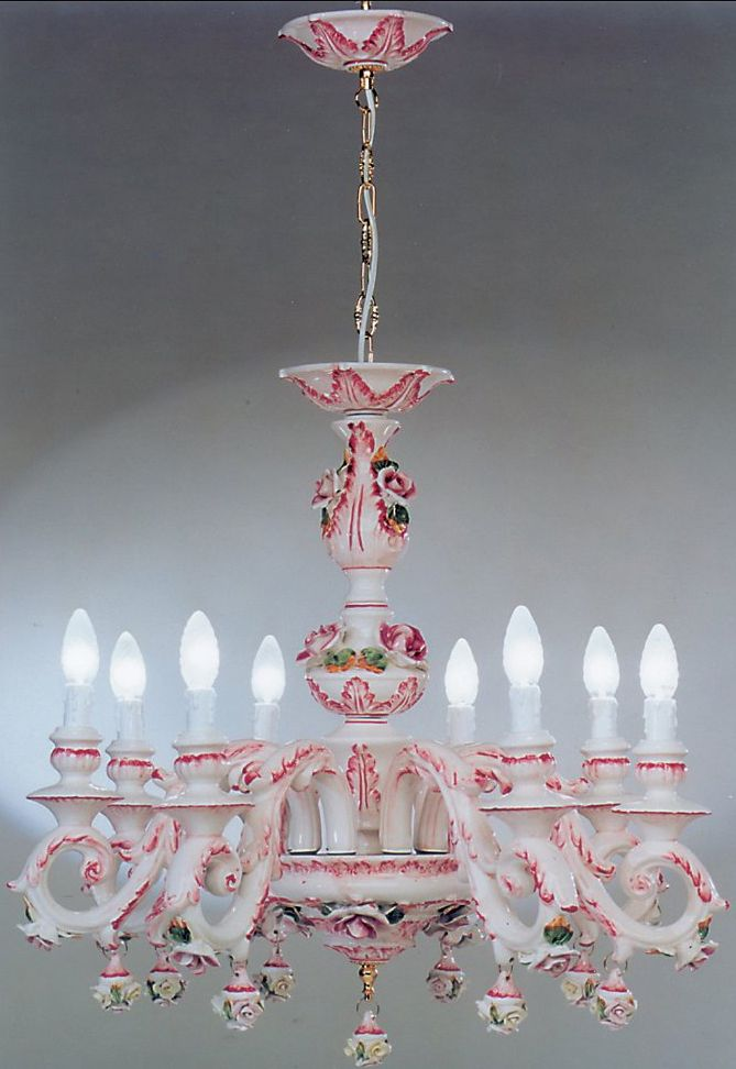 AUTHENTIC CAPODIMONTE PORCELAIN CHANDELIER..HOW CAN THIS BE