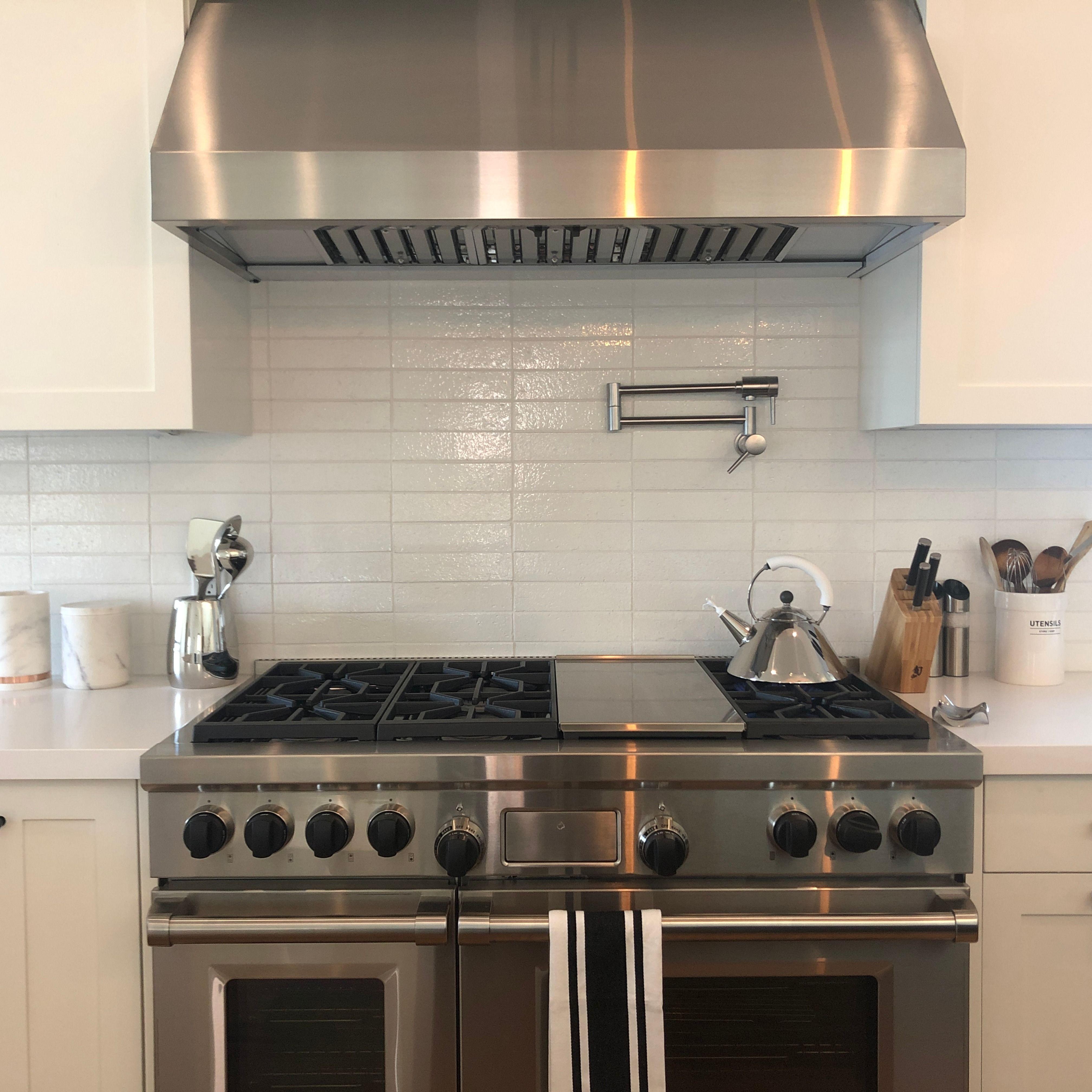 cle basics modern farmhouse brick white gloss rectangle 2 1 2 x9 1 2 x3 8 kitchen remodel kitchen kitchen backsplash