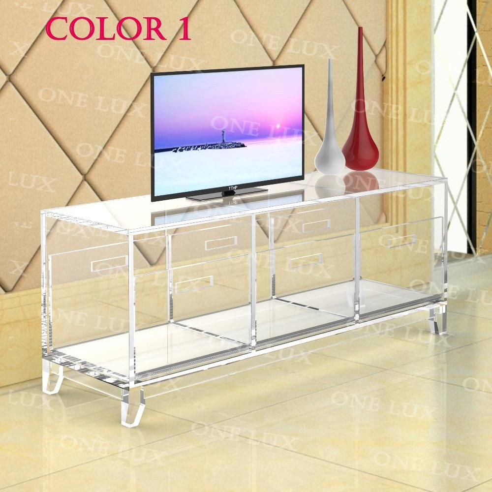 Acrylic #TV #Stand #Table,Luite #Cabinet #With #Removable #Trays ...