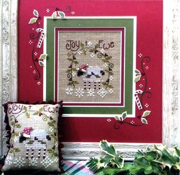 Joy to Ewe by Shepherd's Bush is a cute little sheep in a Santa hat. Make a pillow or frame it! This kit comes with everything you will need : fabric, threads, needle and a Santa hat charm for the sheep.