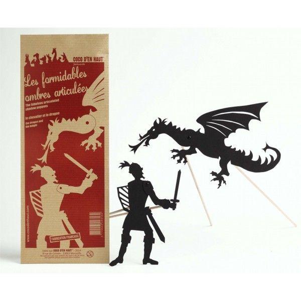 Bewegende schaduwfiguren - De ridder en de draak -Kokkie
