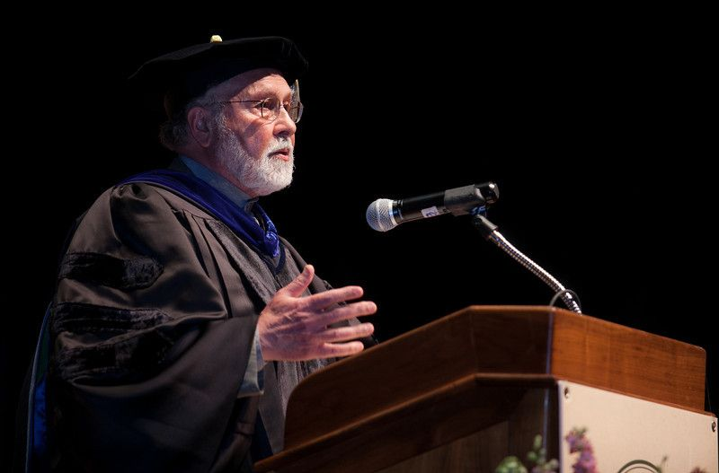 Dr. Seyyed Hossein Nasr giving the Commencement Address at the inaugural Commencement for Zaytuna College. | Inauguration, Commencement, College