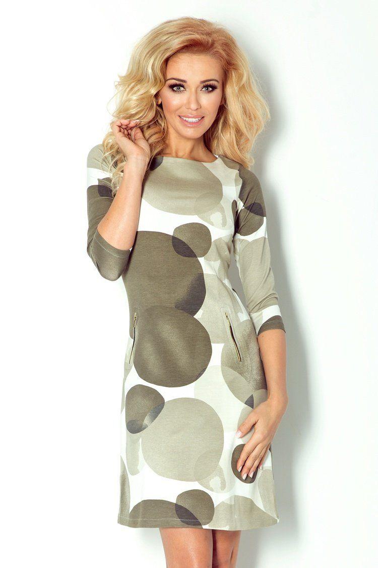 Numoco Dress with zippers Green 3811