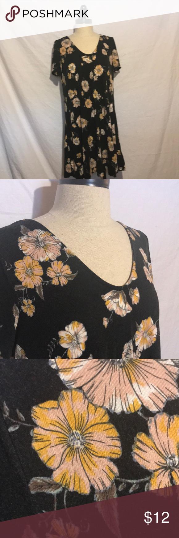 Target Mossimo Black Floral Dress Super Comfortable Black Floral Dress Only Worn A Few Times But Fabric Did Floral Dress Black Clothes Design Fashion Design [ 1740 x 580 Pixel ]