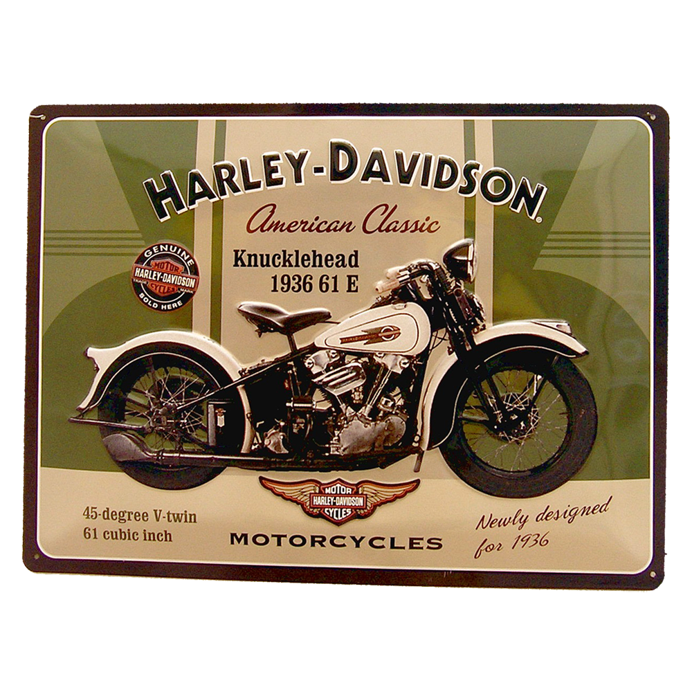 Cartel met lico harley davidson knuckelhead 1936 61 e carteles met licos pinterest - Carteles publicitarios antiguos ...