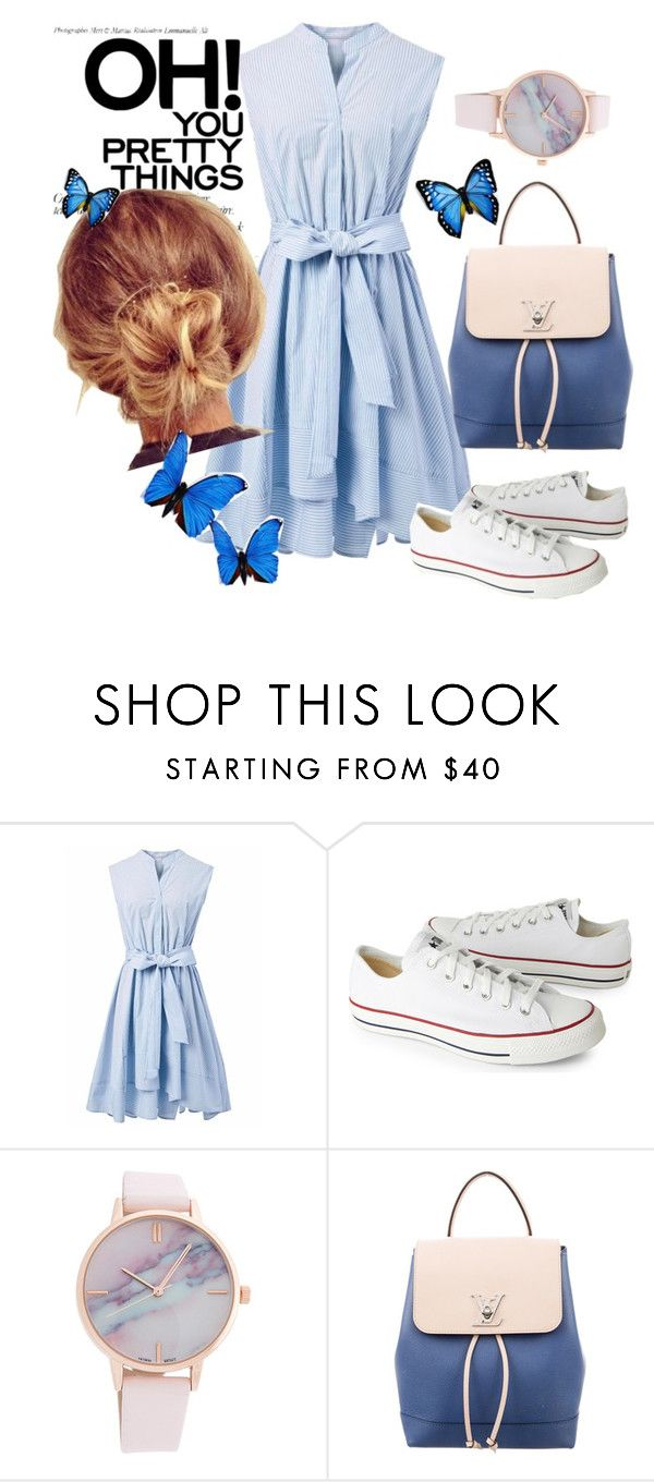 """Untitled #150"" by hanny998 ❤ liked on Polyvore featuring Chicwish, Converse and Louis Vuitton"