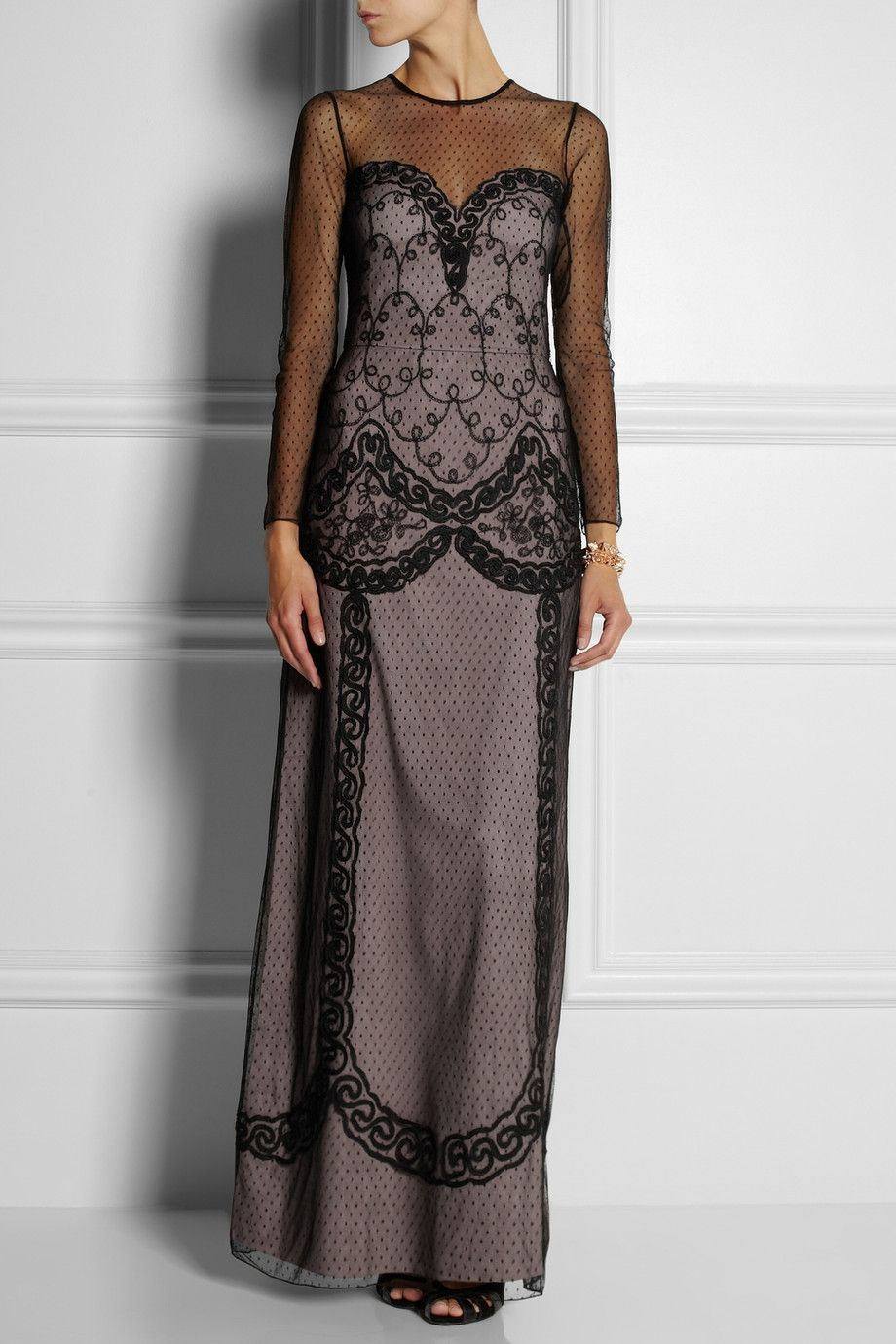 ALICE by Temperley | Luisa embroidered tulle dress