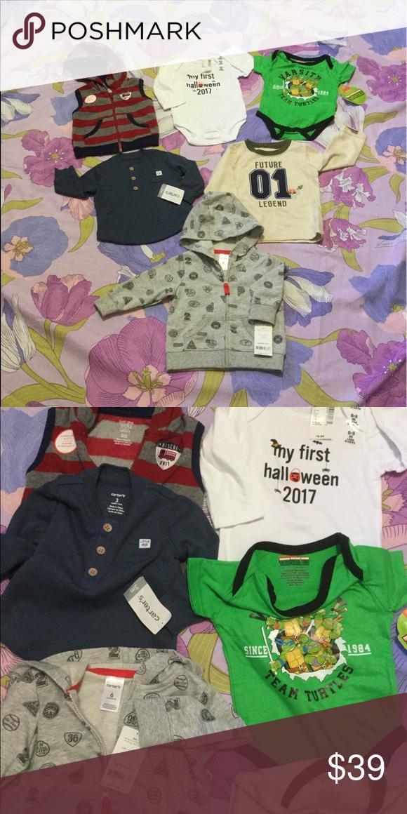 Kleding en accessoires Halloween One Piece Shirt Baby's First Halloween Infant 0-3M 3-6M 6-9M NWT