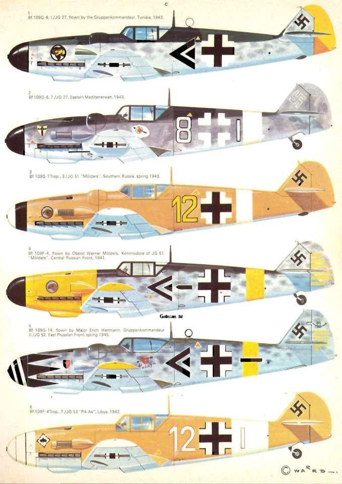 40 Messerschmitt Bf109