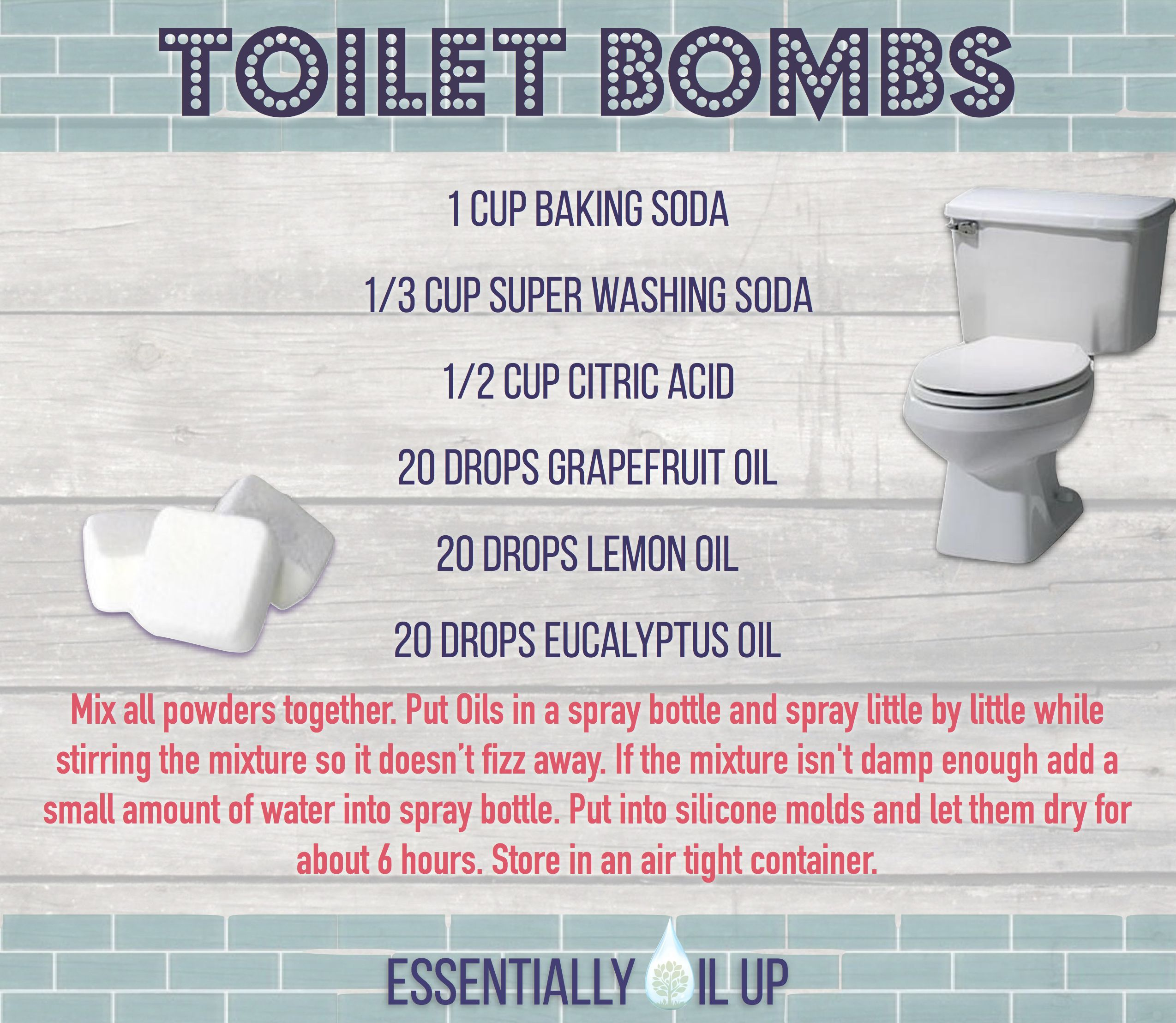 Doterra bathroom cleaner - Diy Toilet Bombs Infused With Essential Oils
