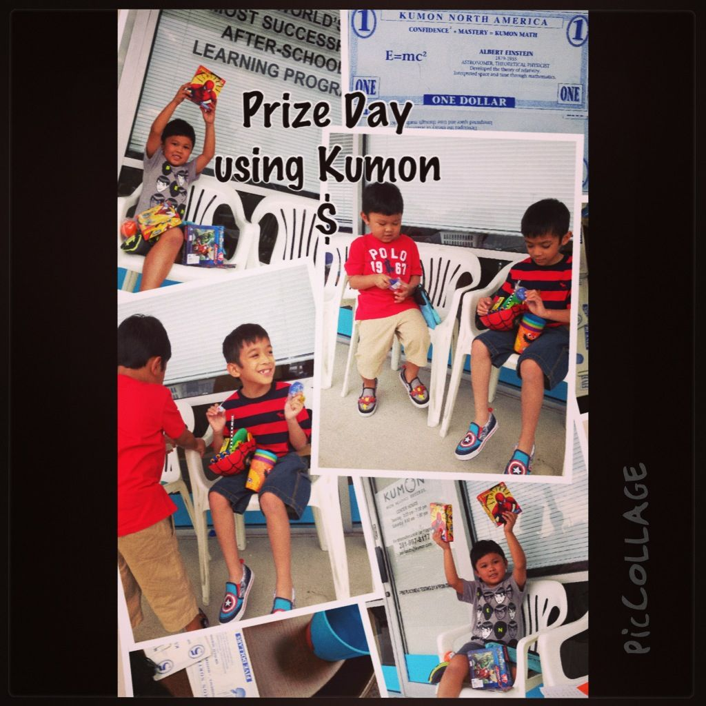 Prize Day Learning Using All 500 Kumon Dollars Kumon After School Learning [ 1024 x 1024 Pixel ]
