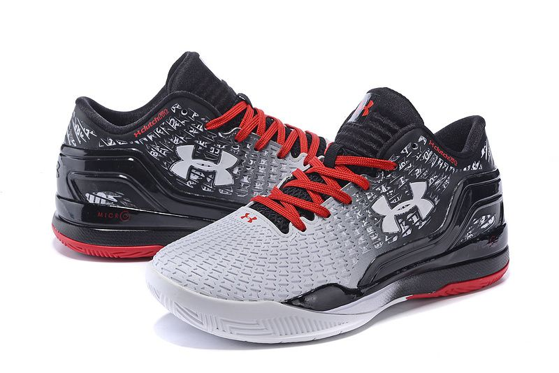 Men\u0027s Under Armour UA Stephen Curry Two Low Basketball Shoes White/Black/Red