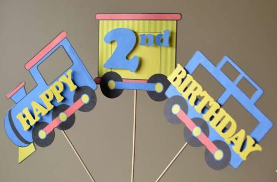 Train Birthday Party Decorations 3 PIECE CENTERPIECE First