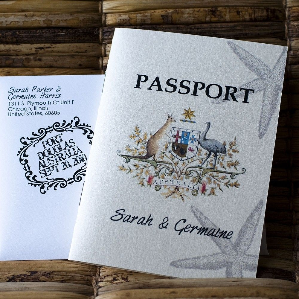 Deposit Passport Invitation Or Save The Date By Sproulliedesigns