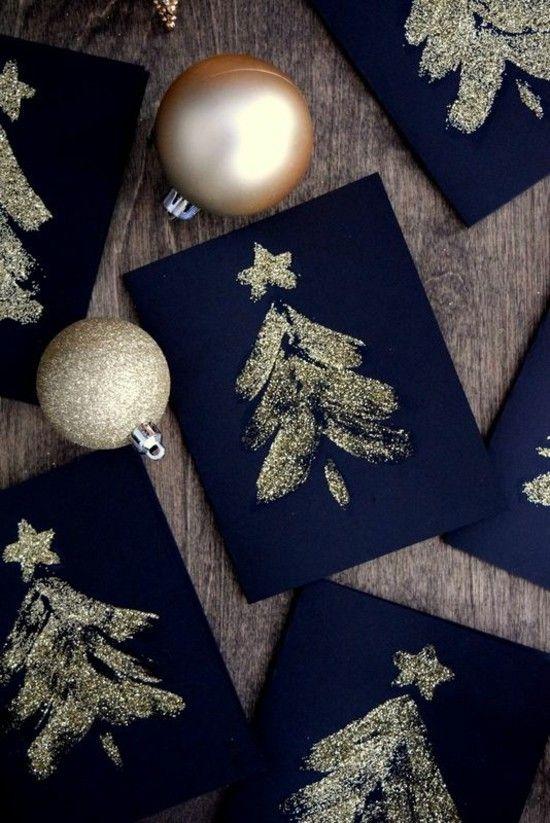 65 ideen f r weihnachtskarten selber basteln askarteluja. Black Bedroom Furniture Sets. Home Design Ideas