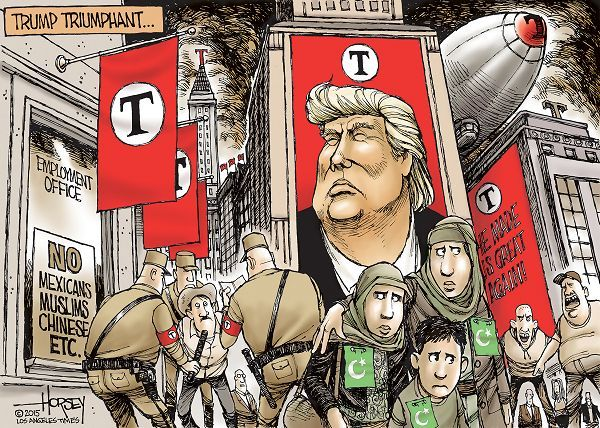 Image result for comparing trump and hitler cartoons