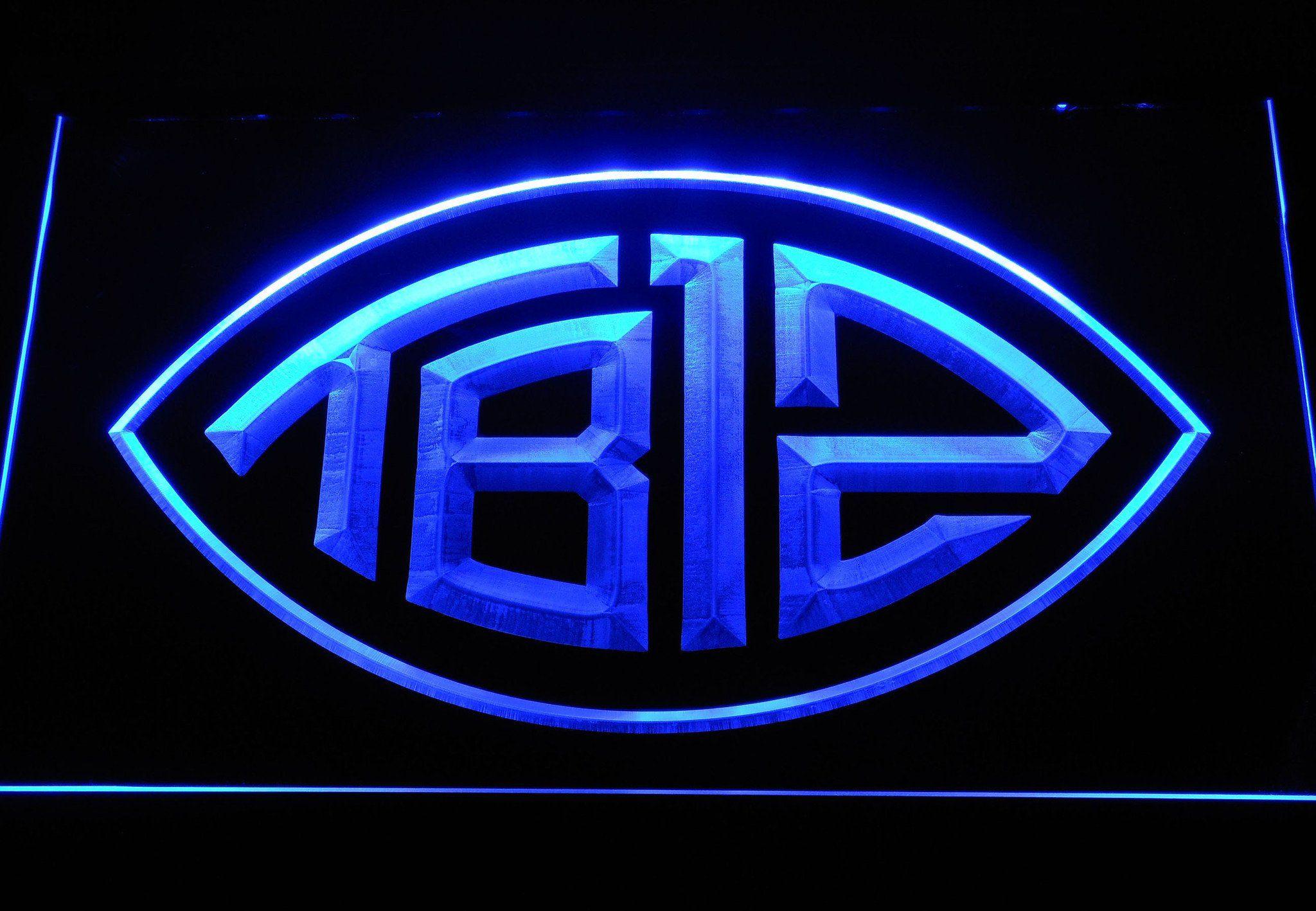 New england patriots tom brady football logo led neon sign