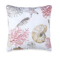 "Seashore 18"" Square Toss Pillow - Bed Bath & Beyond"