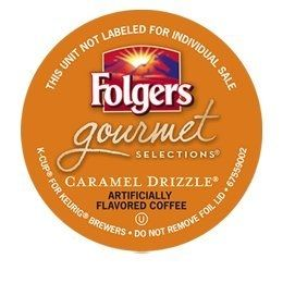 Folgers Caramel Drizzle Coffee K-Cups For Sale at CapeJava.com
