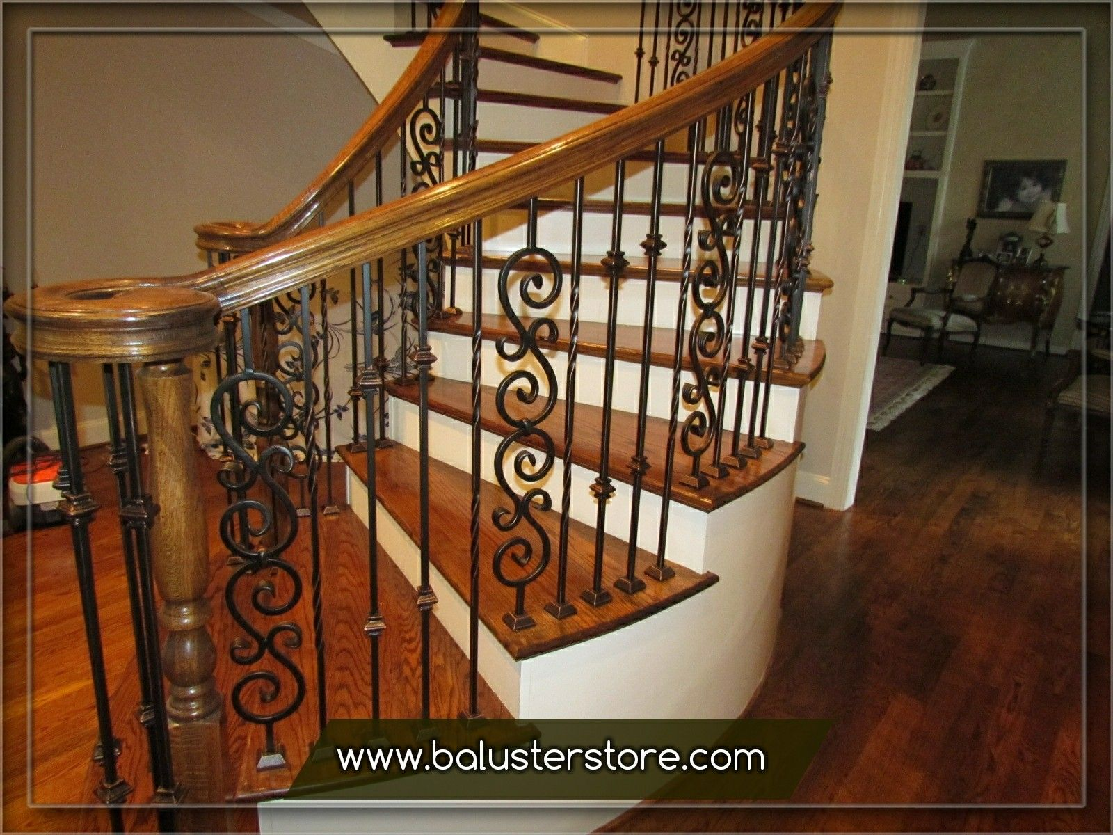 Iron Stair Baers Parts Handrails Interior Wrought Railings Kits