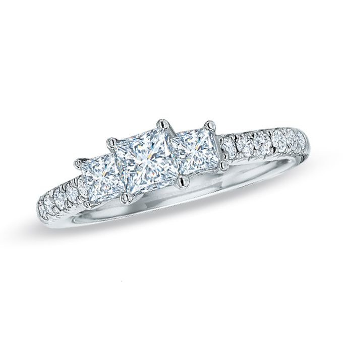 three stone engagement rings - Wedding Rings At Zales