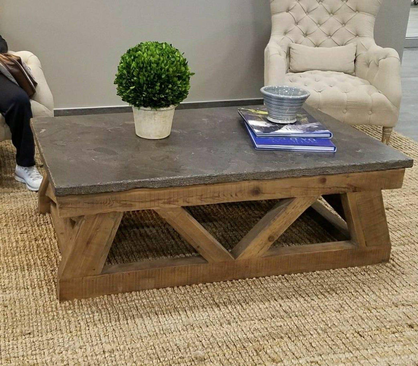 Concrete Top Coffee Table Rustic Concrete Coffee Table