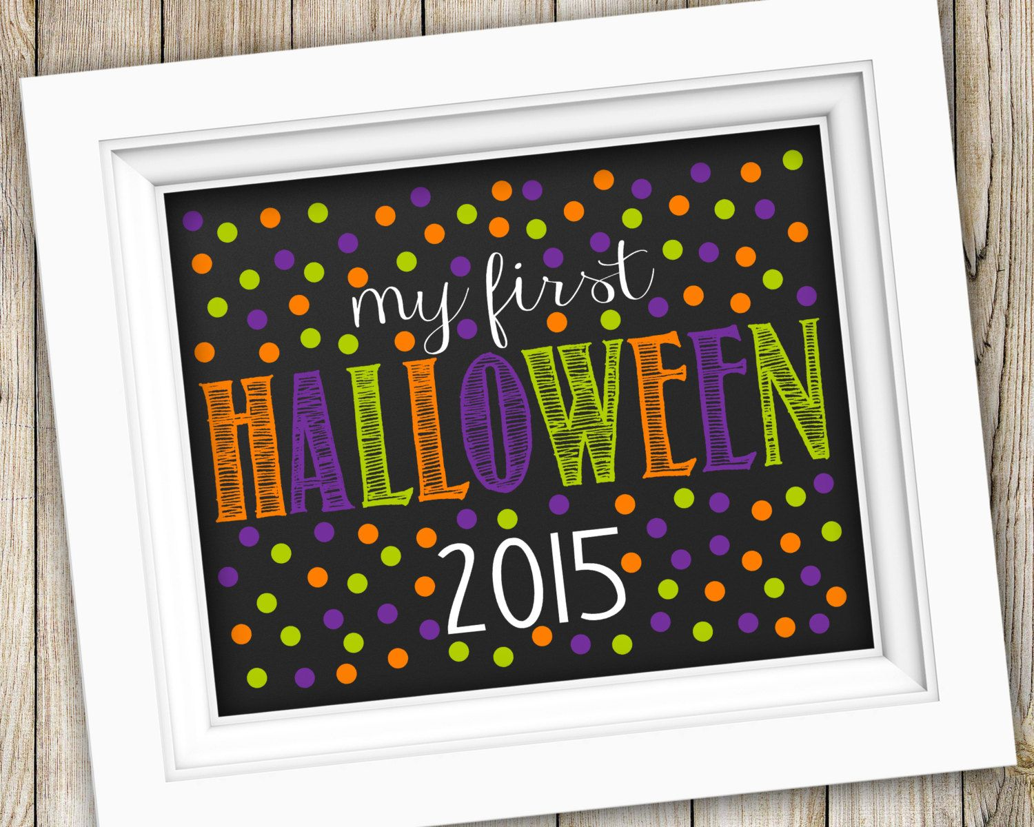 My First Halloween Sign Instant Download ~ Baby's First Halloween Photo Prop ~ Printable Halloween Chalkboard Sign Poster Decoration Decor by SubwayStyle on Etsy