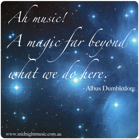 Image result for music quotes harry potter