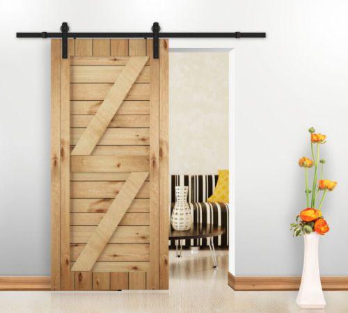 150 195cm Sliding Barn Wood Door Straight Hardware Sliding Closet