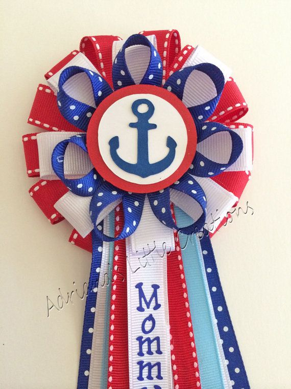 Nautical Baby Shower Corsage Pin By Littlecreationz On Etsy