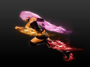 Girl on Fire Photoshop Tutorial
