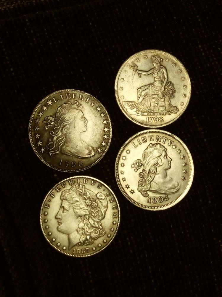 1796 Bust Dollar 1798 Trade Dollar 1802 Bust Dollar 1887-CC