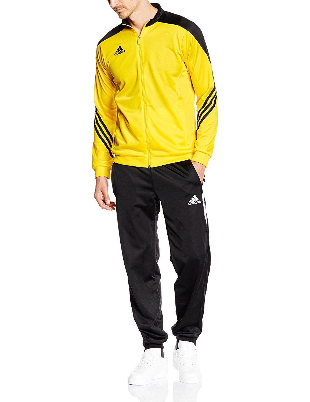 Adquisición acelerador embarazada  adidas Sereno 14 - Chándal para hombre, color amarillo, talla S: Amazon.es:  Deportes y aire libre | Chándal para hombre, Chaqueta de moda para hombre,  Ropa adidas